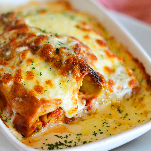 - homemade lasagne