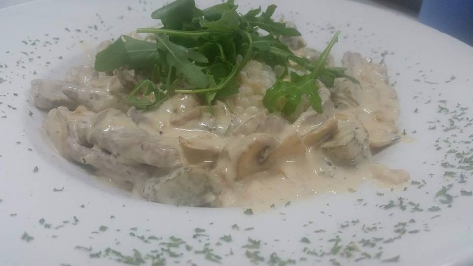- chicken and mushroom risotto